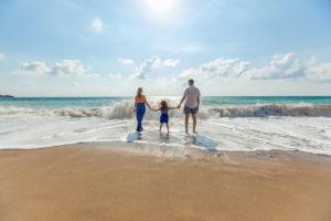 family-beach-sunny-day