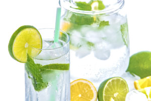 water-jug-glass-lime-mint